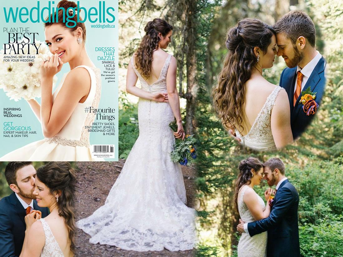 Hair by Lysh in Wedding Bells magazine, Spring/Summer 2016