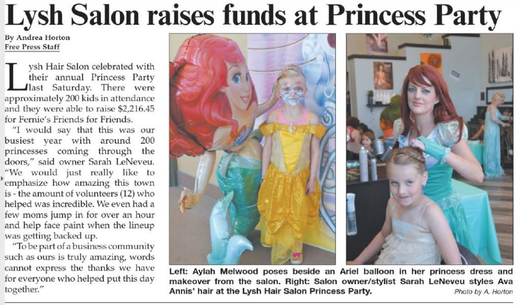 Lysh's Princess Party - Fernie Free Press