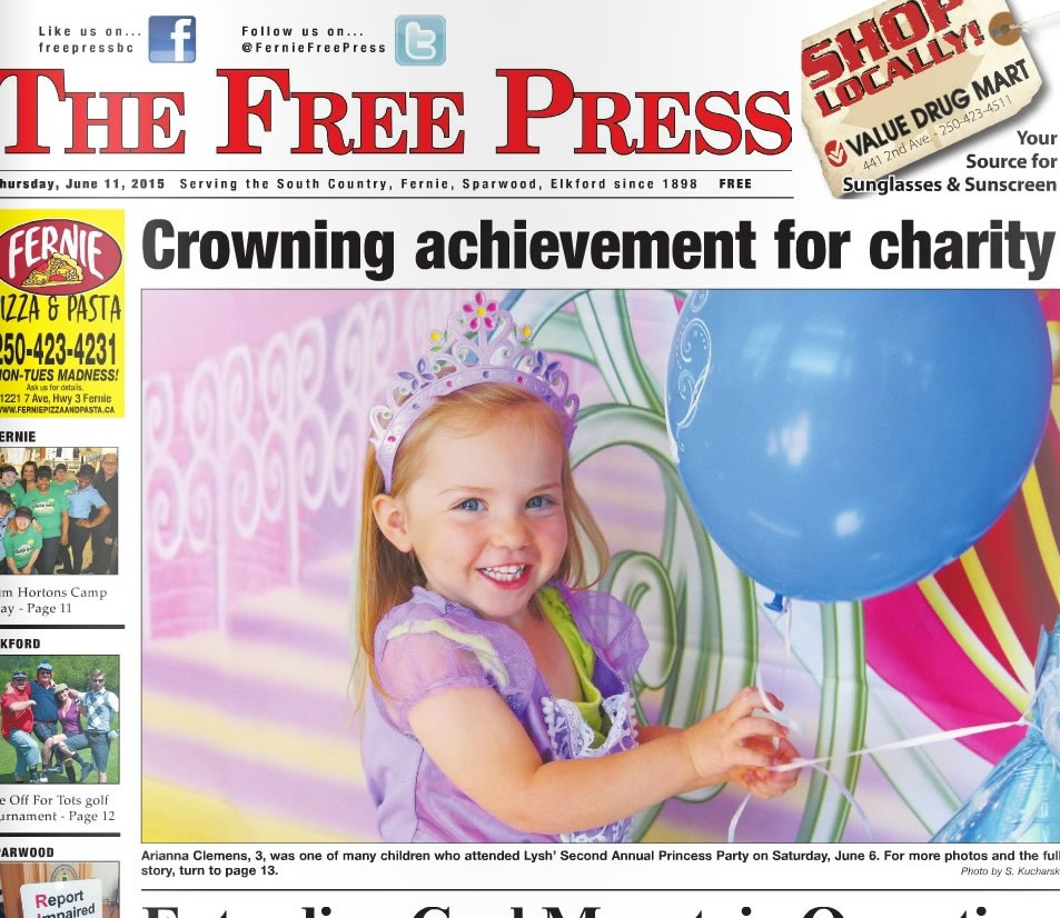 Front Cover Story - Lysh's Princess Party - Fernie Free Press